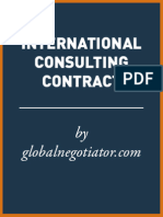 INTERNATIONAL CONSULTING CONTRACT