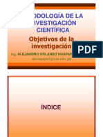 11. Objetivos de La Investigacion