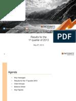 Swissquote Q12013 Presentation