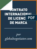 CONTRATO INTERNACIONAL DE LICENCIA DE MARCA