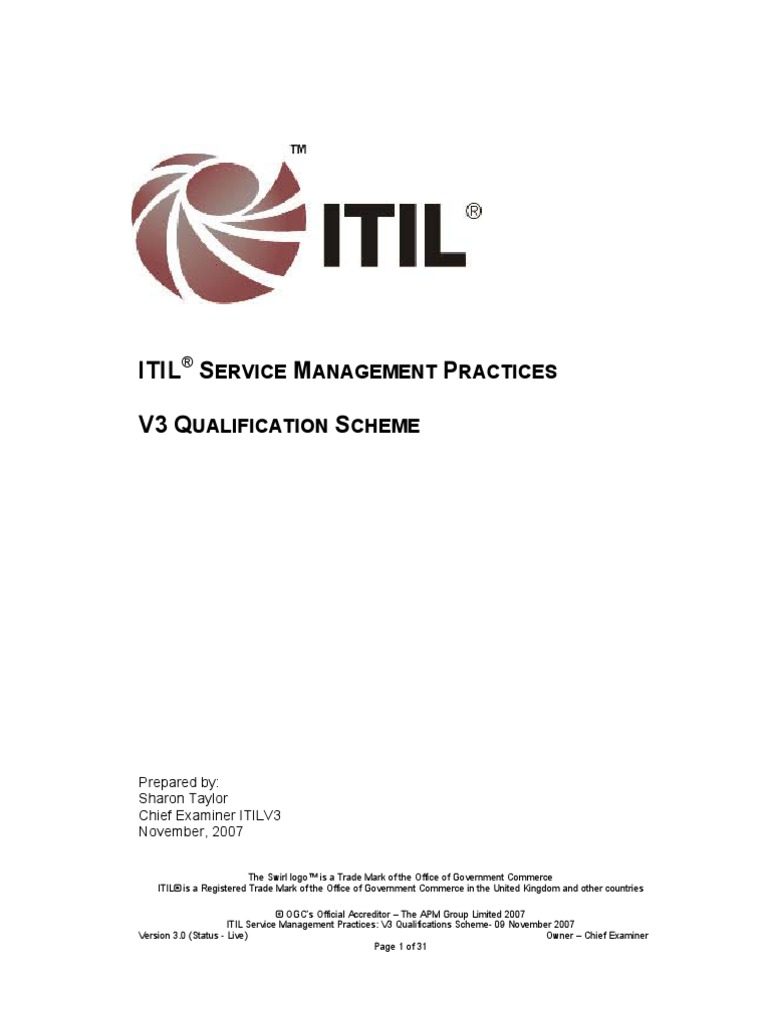 Itil Training Itil It Service Management