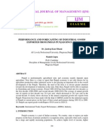 Performance and Forecasting of Industrial Goods Exported From Indian