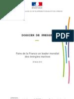 Faire de la France un leader mondial des énergies marines