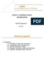 Introduction to Matlab Mit