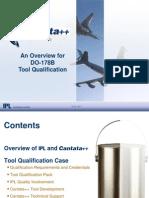 Cantata++ DO-178B ED-12B Tool Qualification Presentation