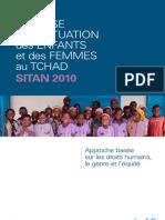 Analyse de La Situation de l'Enfant et des Femmes au Tchad, UNICEF SITAN 2010 (Juin 2011)