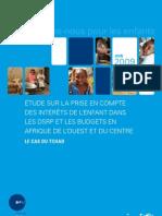 Étude sur la prise en compte des intérêts de l'enfant dans les DSRP et les Budgets en afrique de l'ouest et du centre, le cas du Tchad (Juin 2009)