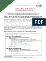 20130502 Nota Acte Retorn Forum Social Mundial 8 de Maig
