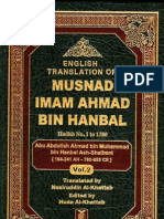 Musnad Ahmad Bin Hanbal, Arabic -English Translation-Volume 2