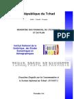 TCHAD, PROFIL DE PAUVRETE