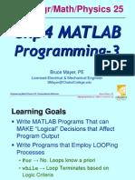 ENGR-25 Lec-11 Sp12 Programming-3 Decisions
