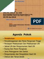 Sosialiasi UN-2013- Kadindik Prov. Jatim