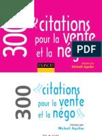 300 Citations Pour La Vente Et La Negociation
