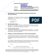 Sedimentation Settling Velocity Column Analysis