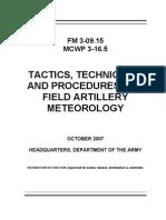 Fm-3!09!15 Field Artillery Meteorology