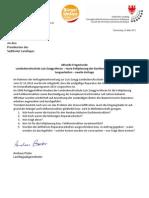Landesberusschule Luis Zuegg Meran Baumängel Landtagsanfrage & Antwort