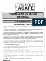Prova_medicina ACAFE 2013