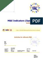 Ave Mejia - Presentation on M&E Indicators