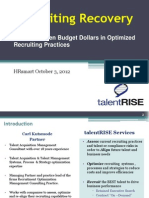 Finding Hidden Budget Dollars in Your Recruiting Practices 10 2012 HRSMART