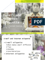 E-Mail and Internet Etiquettes