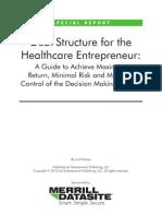 Deal Structure for Healthcare Entrepreneur