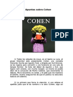 Apuntes sobre Cohen