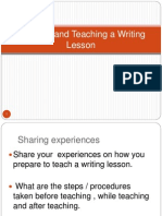 PPT - Planning and Teaching a Writing Lesson