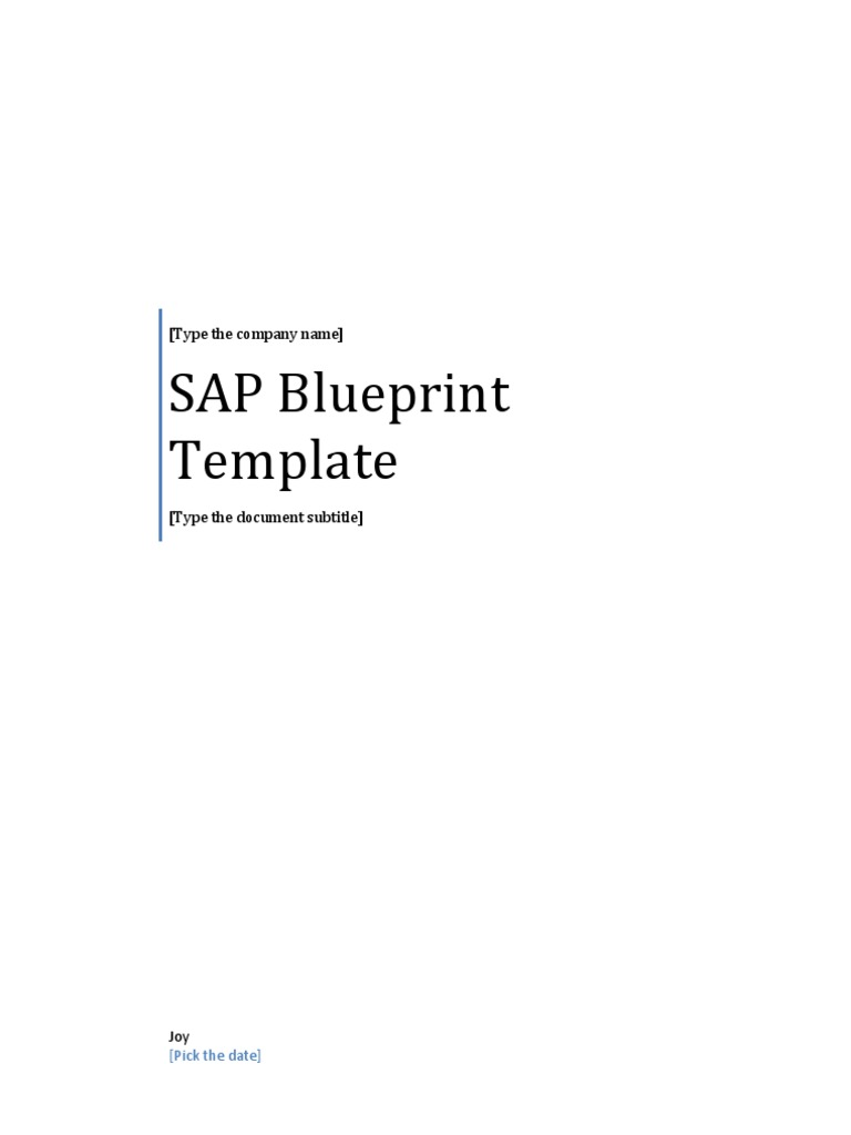Sap blueprint template 1533606634v1 malvernweather Images