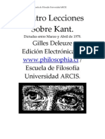 Deleuze, Guilles - Cuatro Lecciones Sobre Kant
