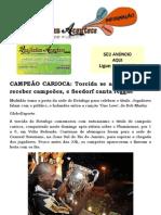 CAMPEÃO CARIOCA Torcida se aglomera para receber campeões, e Seedorf canta reggae