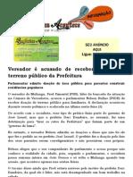 Vereador é acusado de receber doação de terreno público da Prefeitura