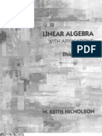 Linear Algebra With Applications 3rd Edition - Nicholson, W. Keith