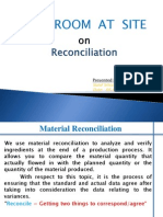 Material Reconciliation 2011