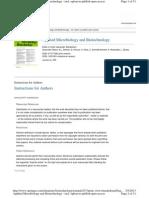 Applied Microbiol Biotechnology