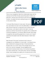 Gurus of Management - Peter Drucker