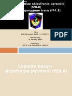 Referat Gangguan Trans & Lapsus Skizofrenia Paranoid