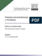 Fiskalna Decentralizacija u Hrvatskoj