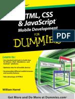 HTML, CSS, And JavaScript Mobile Development for Dummies html css javascript tutorial