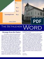 BCC Newsletter April 09