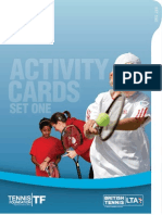 Schools Tennis Activity Cards - Set 1
