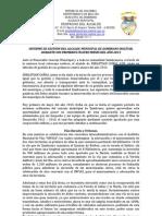 Informe Primeros cuatro meses año 2013-alcalde