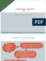 Antropologi Agama Evolusionisme