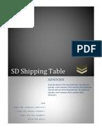 SD Shipping Table