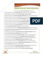 50 Sample Behavior Based Questions