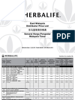 Herbalife East Malaysia Price Eff 27 March 2013