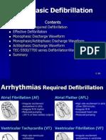 Biphasic defbrillation