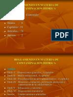 Reglamento en Materia Hidrica