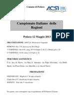 Locandina Campionato Italiano Delle Regioni