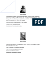 Premio Nobel de Literatura Hispanos