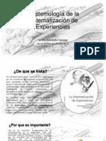 Epistemología de la Sistematización de Experiencias